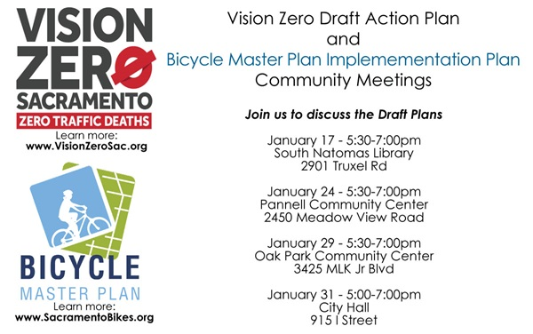 Vision Zero Outreach Meetings January 17, 24, 29, 31
