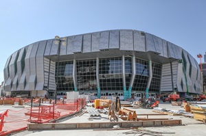 Construction on Golden1Center May 2016