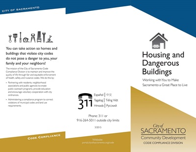 Housing and Dangerous Buildings Brochure Cover