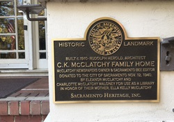 Photo of McClatchy Historic Plaque