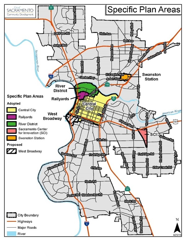Central City Specific Plan Map