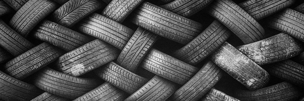 A bunch of radial tires