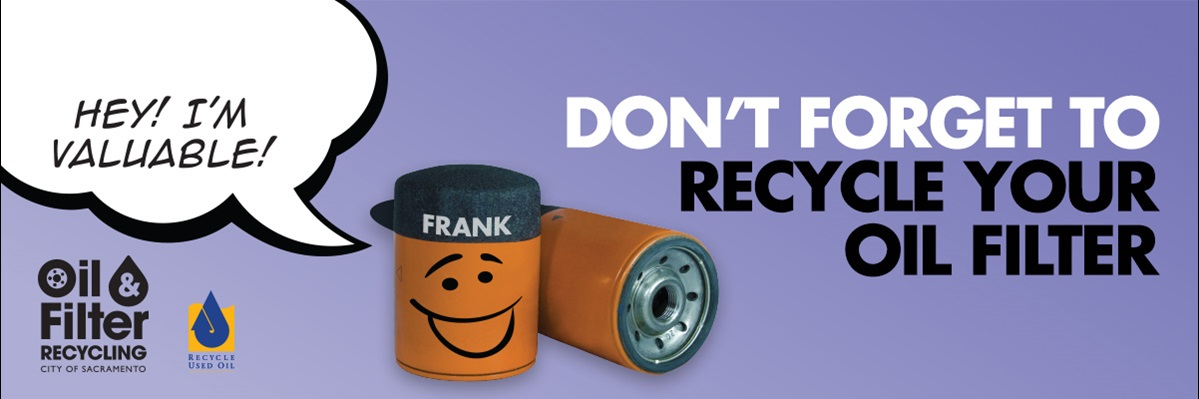 recycle your oil filters