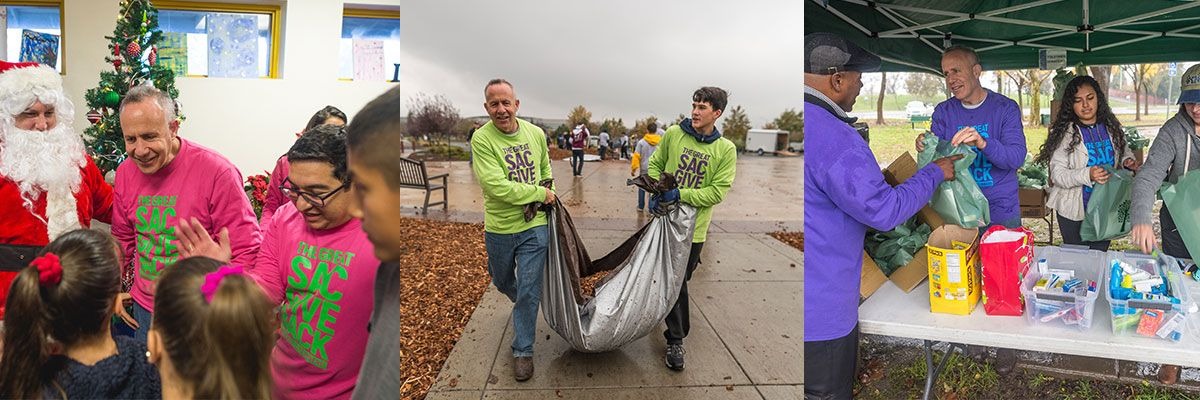 Mayor Steinberg volunteers with other Sacramento City Council members and residents in Sac Gives Back.