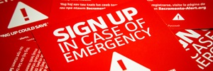 Sign up in case of emergency tags