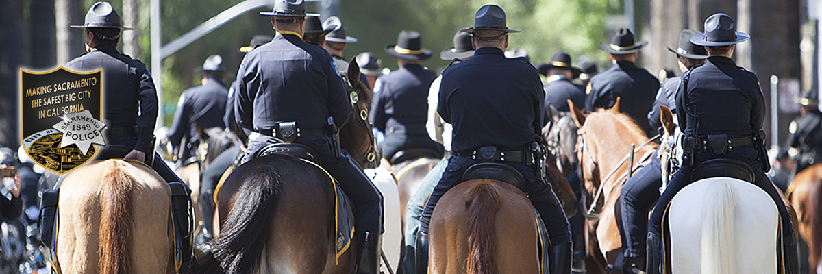 Mounted unit at Police Memorial
