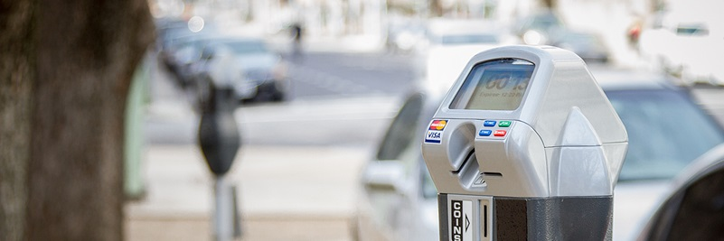 A new smart parking meter that accepts credit cards
