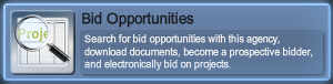 Bid opportunities button
