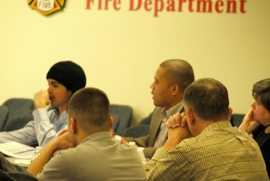 CMA students listening to Fire Department's presentation