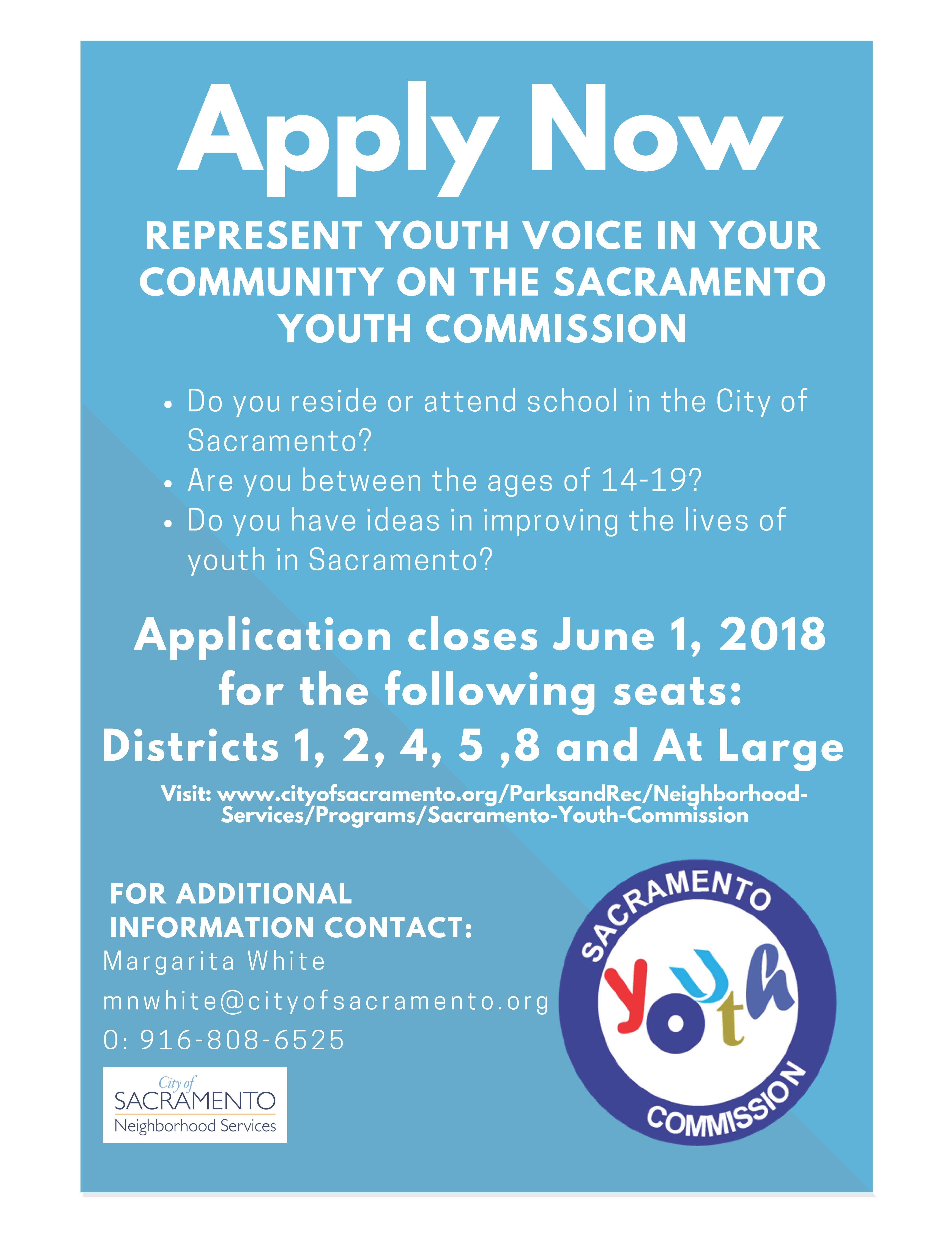 Sacramento Youth Commission Openings