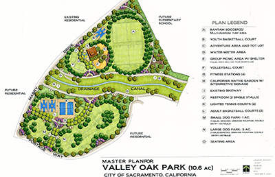 Valley Oak Master Plan Image representing the projects of Park Planning