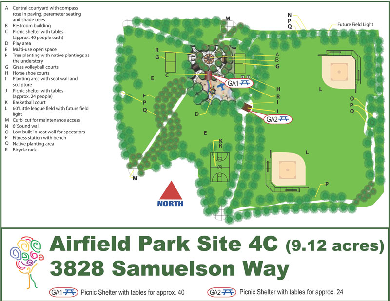 Airfield Park Map Image