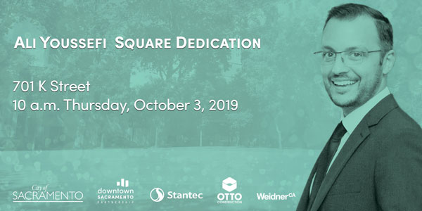 Ali Youssefi Square Dedication at 701 K Street on October 3, 2019