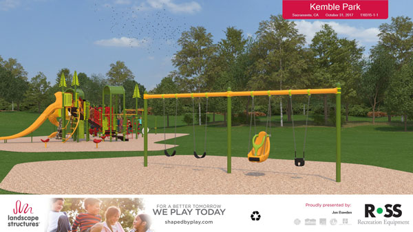 New Play Equipment to be placed at Kemble Park