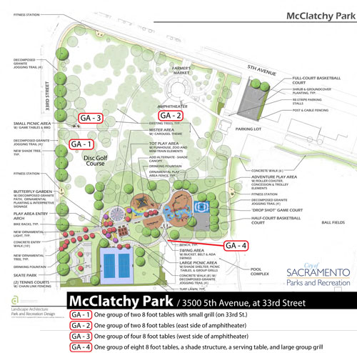 McClatchy Park Map