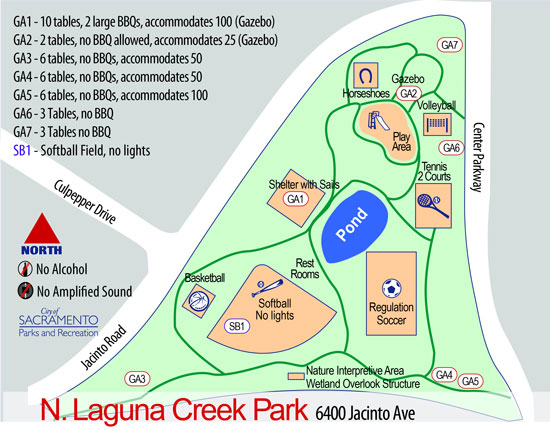 North Laguna Creek Map