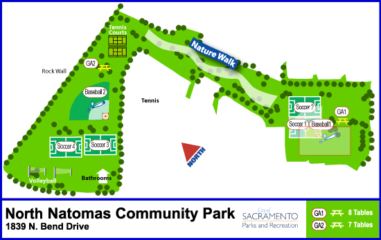 North Natomas Community Park Amenity Guide image link