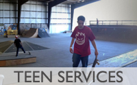Teen Services: Teens enjoying 28th & B Skate Park