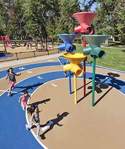 Children experiencing recreation at the park.