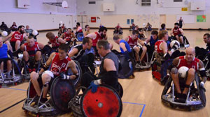 Quad Rugby Participants on the court
