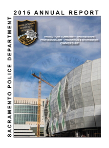 Cover of the 2015 Sacramento Police Department annual report.