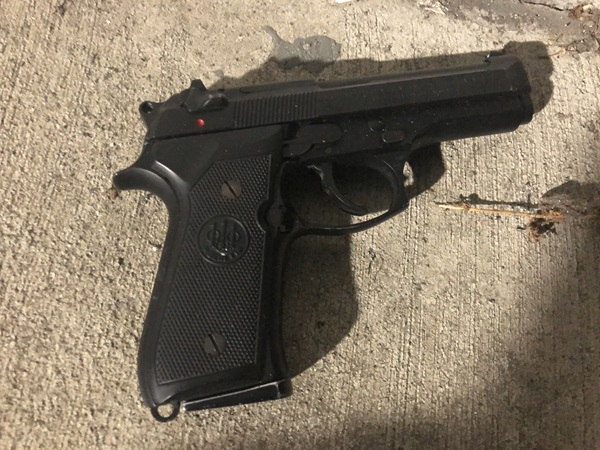 A photo of the suspect's firearm from officer-involved shooting 20-261223