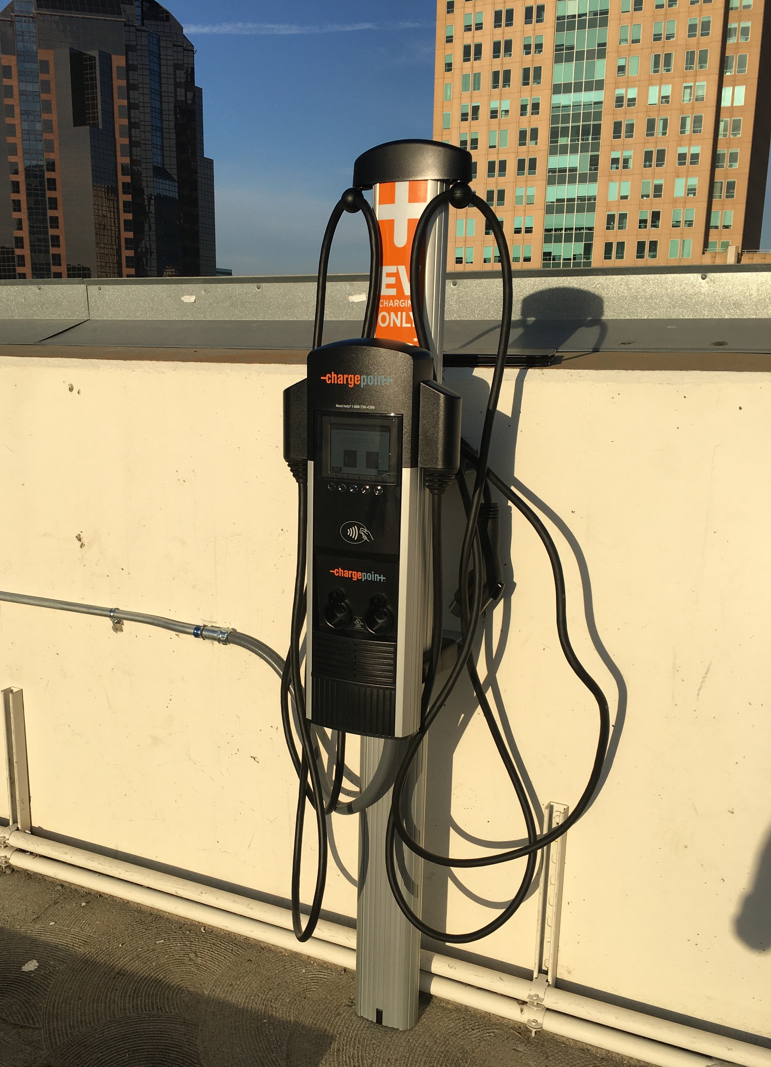 City Hall Garage Rooftop EV Charger