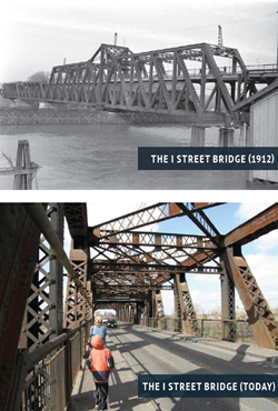 I Street Bridge Past and Current