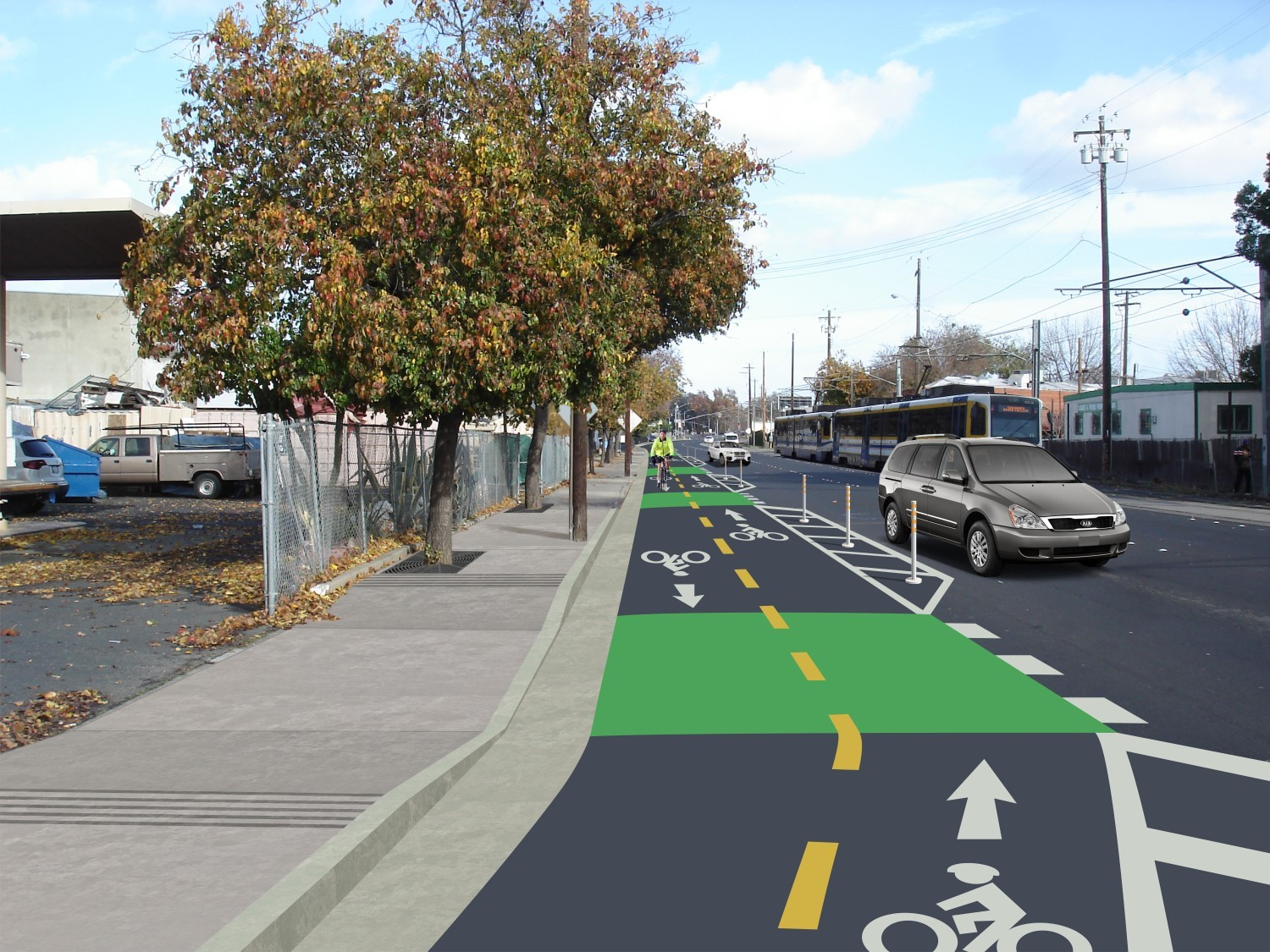 North 12th Complete Street Proposed Two-Way Class IV Bikeway