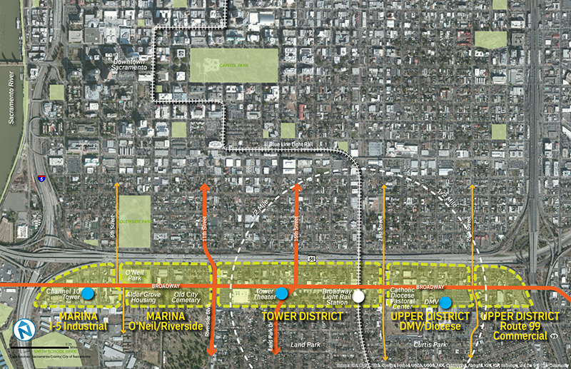 Broadway Street Project Map