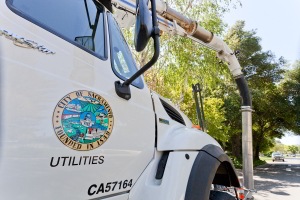 Department of Utilities service truck profile