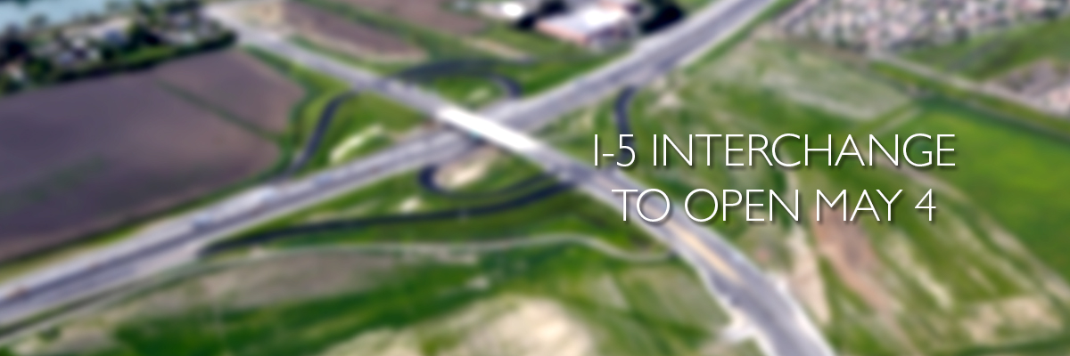 I5 Interchange to open May 4.