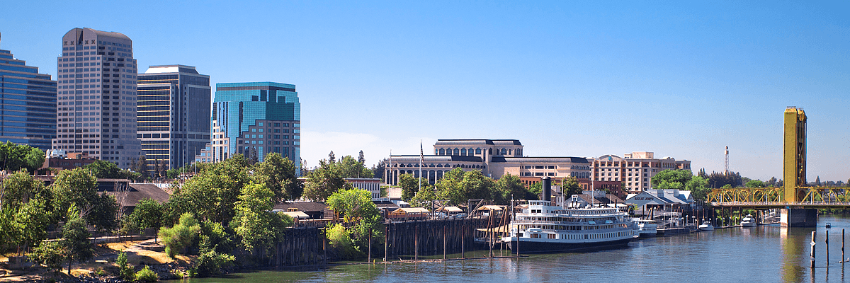 Sacramento skyilne and riverfront