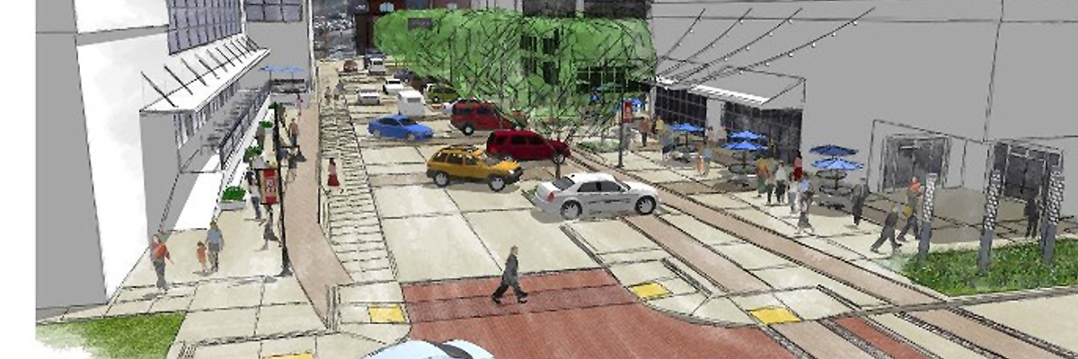 R Street Streetscape Improvement Project rendering