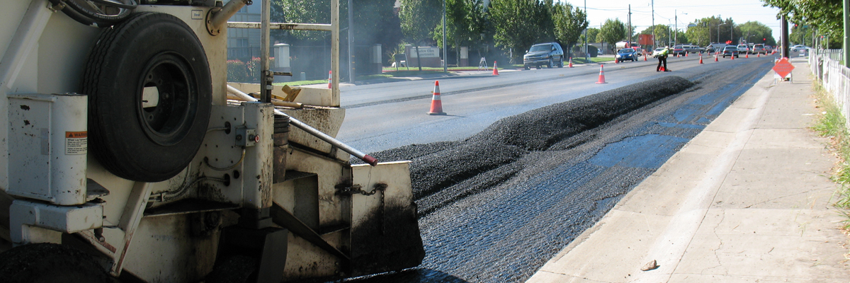 A road being resurfaced
