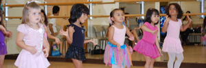 Young Children participating in Dance Lesson at Community Center
