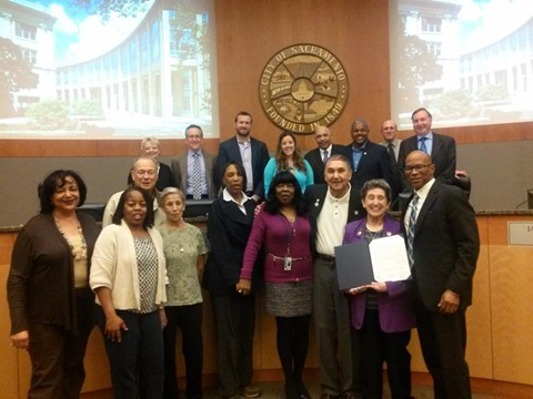 Picture of Mary Ann and Leo Lujan at Sacramento City Council