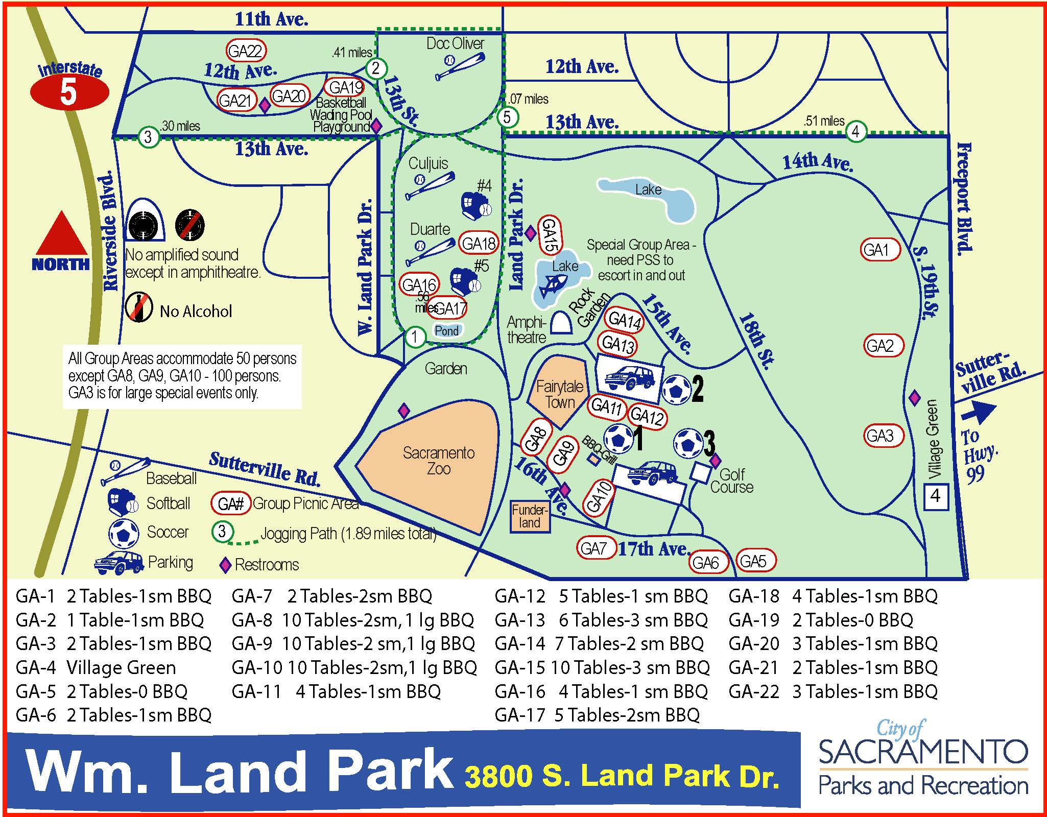 William Land Park Map