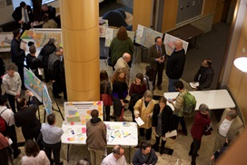 Aerial image of the community open house