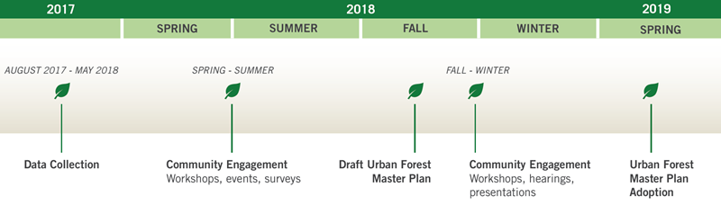 Urban Forest Master Plan Project Schedule