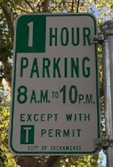 If You Are Parked On A Street That Is Regulated Only By Time Limit No Meters Then The Posted Signage Will Include Words Except With Permit