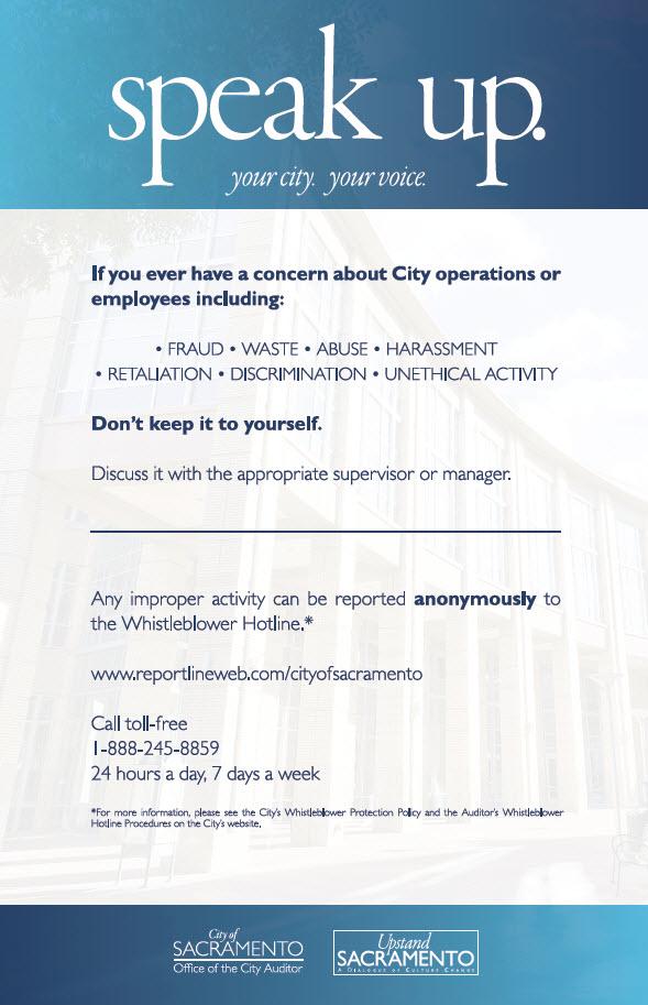 Whistleblower Hotline City Of Sacramento