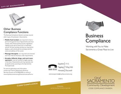 Business Compliance Brochure Cover