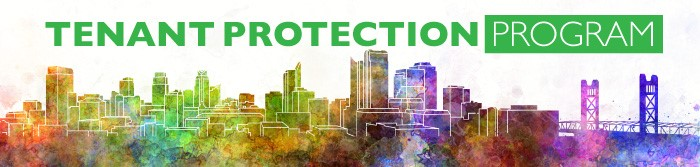 Tenant Protection Program image header of colorful city skyline