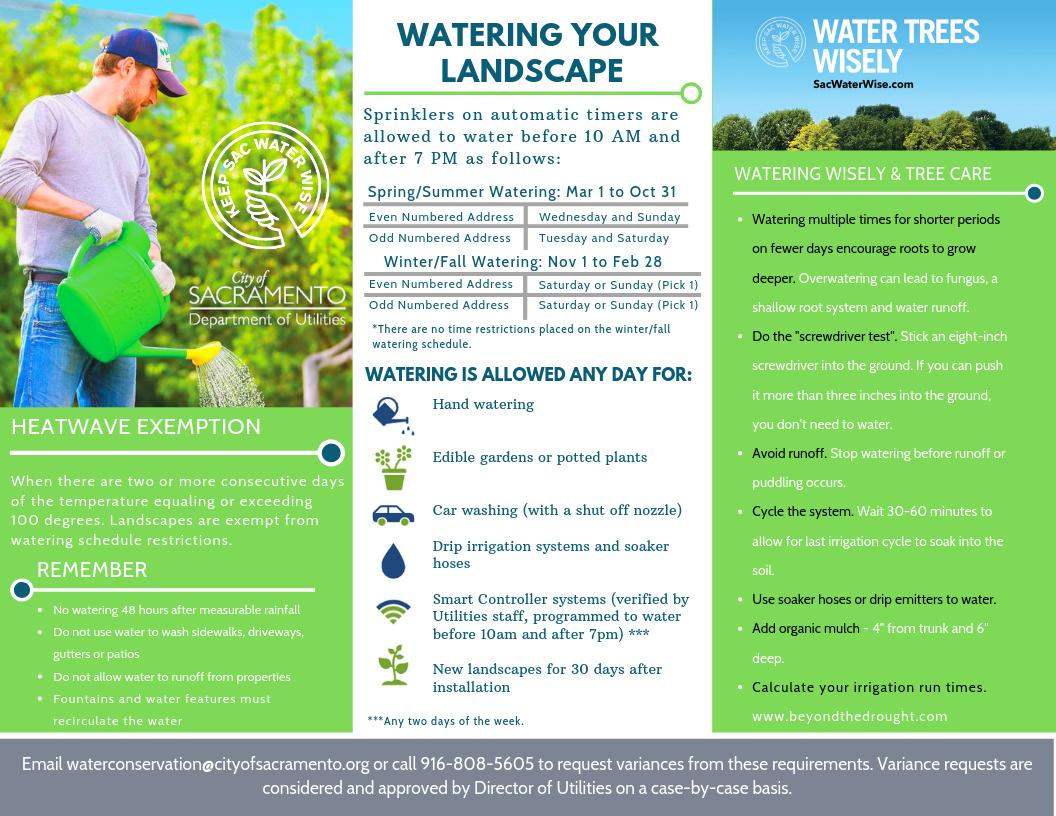 Watering Schedule Ordinance - City of Sacramento