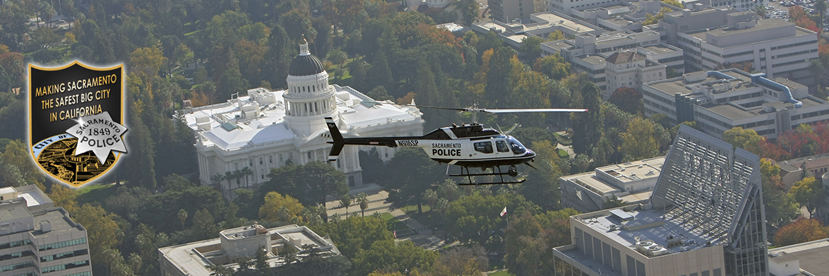 SPD helicopter flying over Capitol