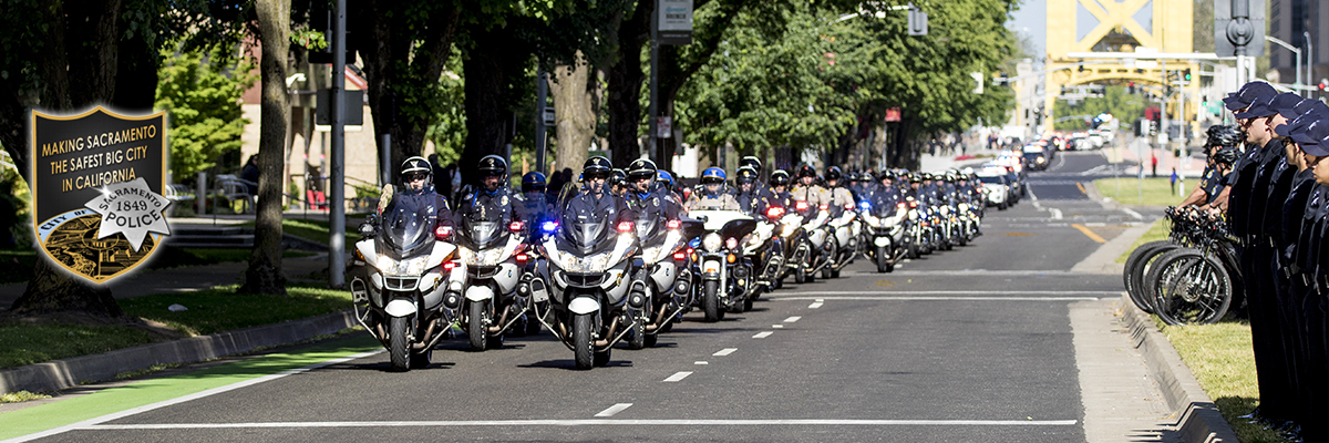 SPD motorcycle procession