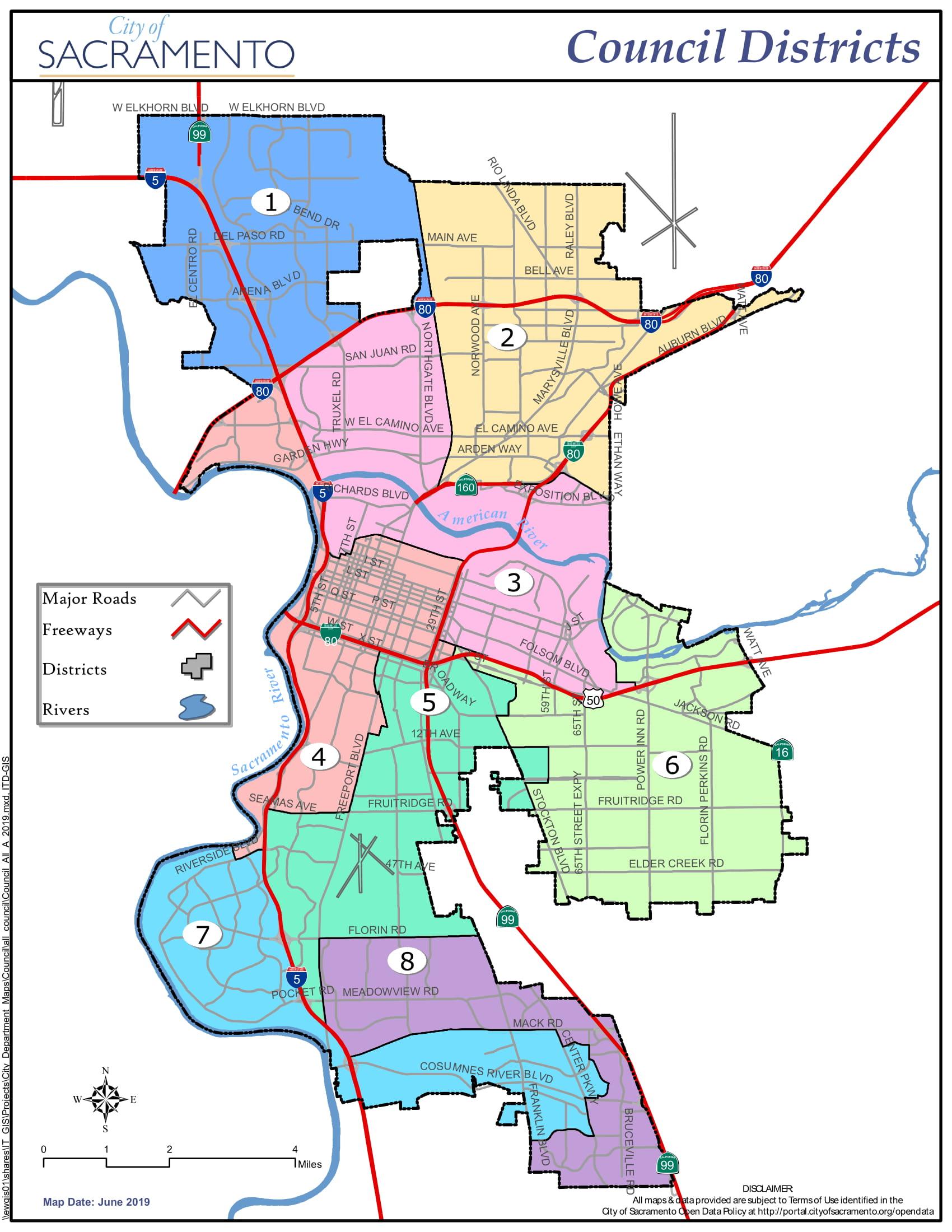 Map of City Limits - City of Sacramento