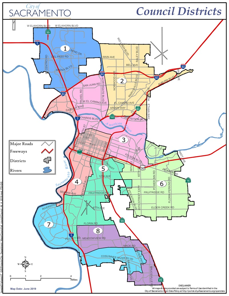 Map Of City Limits City Of Sacramento