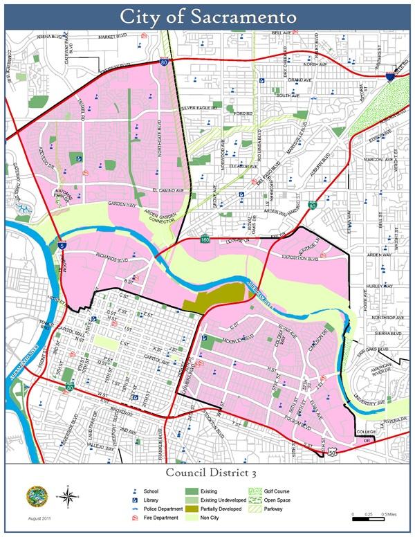 Sacramento City Map District 3 Map   City of Sacramento